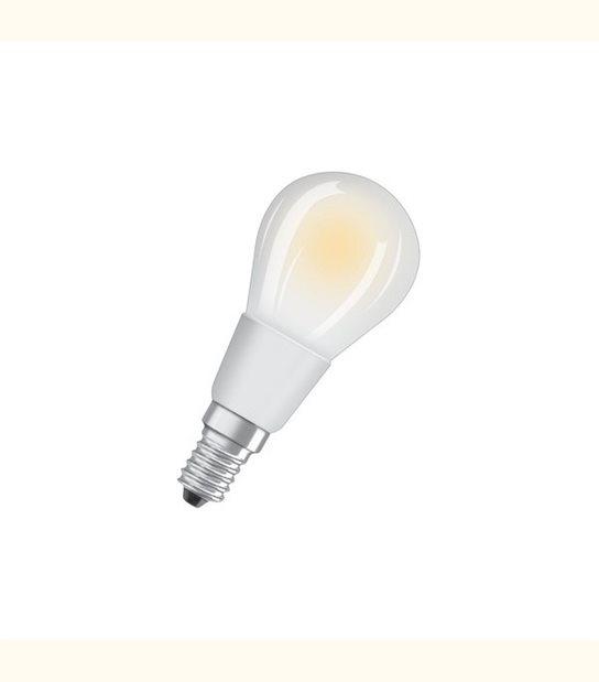Ampoule led Sphérique E14 5 watt (eq. 40 watt) Dimmable Retrofit OSRAM - Couleur - Blanc chaud 2700°K, Finition - Dépolie - OLD-LEDFLASH - siageo-led.com