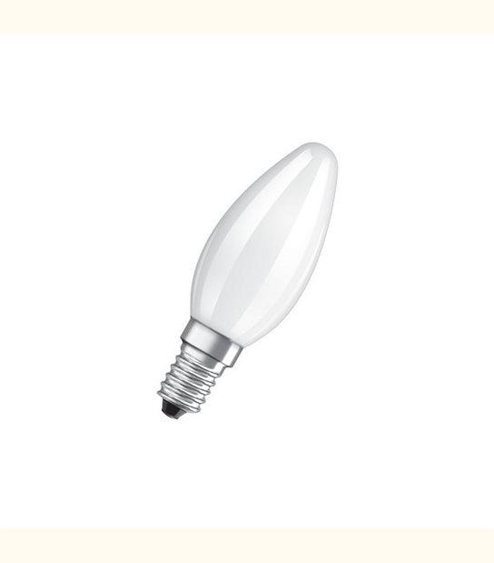 Ampoule led Flamme E14 4 watt (eq. 40 watt) Retrofit OSRAM - Couleur - Blanc chaud 2700°K, Finition - Dépolie - OLD-LEDFLASH - siageo-led.com
