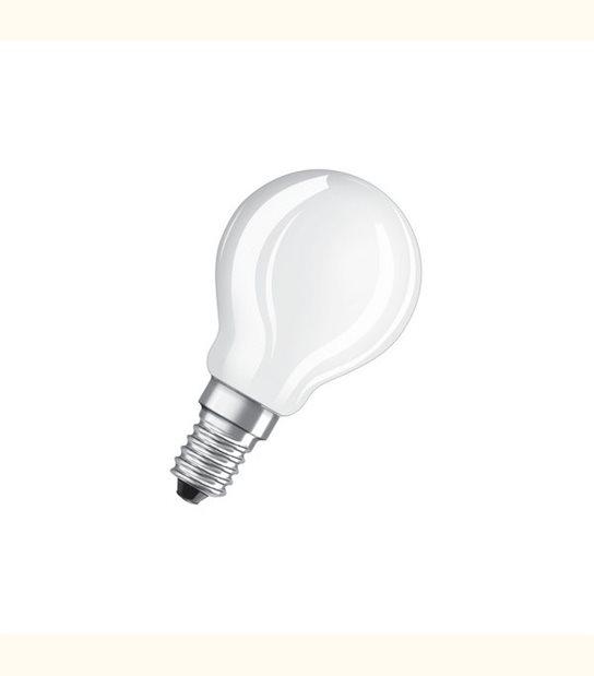 Ampoule led Sphérique E14 4 watt (eq. 40 watt) Retrofit OSRAM - Couleur - Blanc chaud 2700°K, Finition - Dépolie - OLD-LEDFLASH - siageo-led.com
