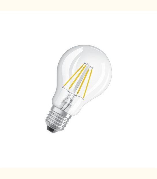 Ampoule led Standard E27 4,5 watt (eq. 40 watt) Dimmable Retrofit OSRAM - Couleur - Blanc chaud 2700°K, Finition - Claire - OLD-LEDFLASH - siageo-led.com