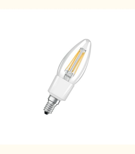 Ampoule led Flamme E14 4,5 watt (eq. 40 watt) Dimmable Retrofit OSRAM - Couleur - Blanc chaud 2700°K, Finition - Claire - OLD-LEDFLASH - siageo-led.com