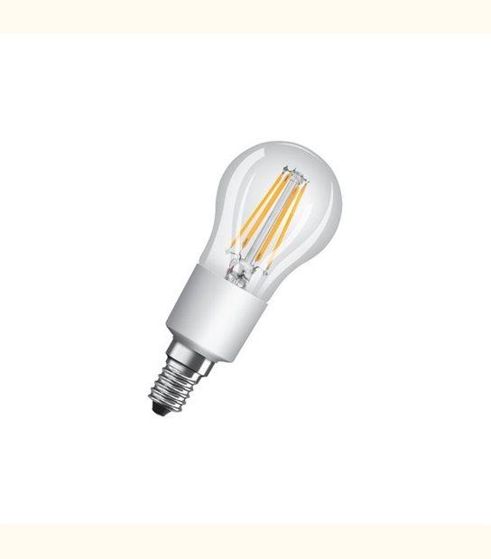 Ampoule led Sphérique E14 4,5 watt (eq. 40 watt) Dimmable Retrofit OSRAM - Couleur - Blanc chaud 2700°K, Finition - Claire - OLD-LEDFLASH - siageo-led.com