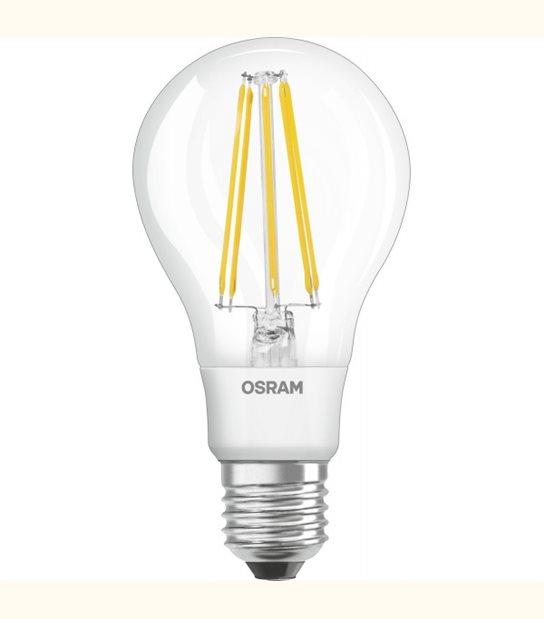 Ampoule led Standard E27 12 watt (eq. 95 watt) Retrofit OSRAM - Couleur - Blanc chaud 2700°K, Finition - Claire - OLD-LEDFLASH - siageo-led.com