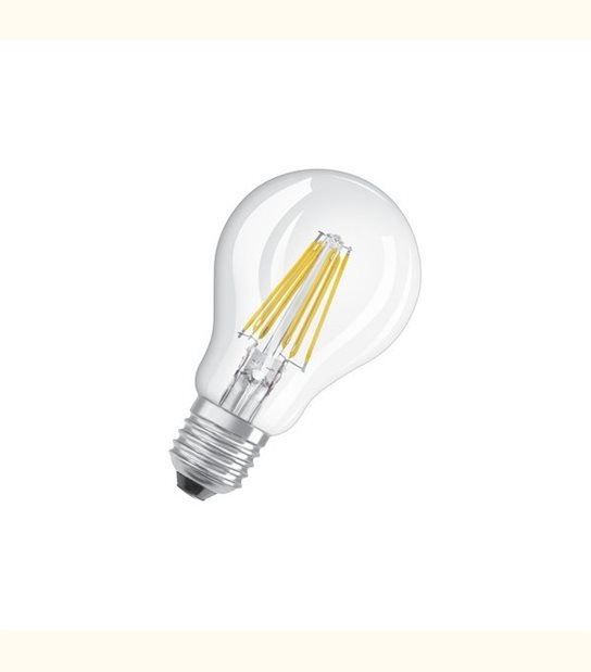 Ampoule led Standard E27 8 watt (eq. 75 watt) Retrofit OSRAM - Couleur - Blanc chaud 2700°K, Finition - Claire - OLD-LEDFLASH - siageo-led.com