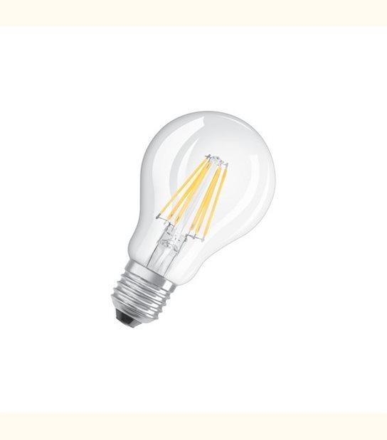 Ampoule led Standard E27 6 watt (eq. 60 watt) Retrofit OSRAM - Couleur - Blanc chaud 2700°K, Finition - Claire - OLD-LEDFLASH - siageo-led.com