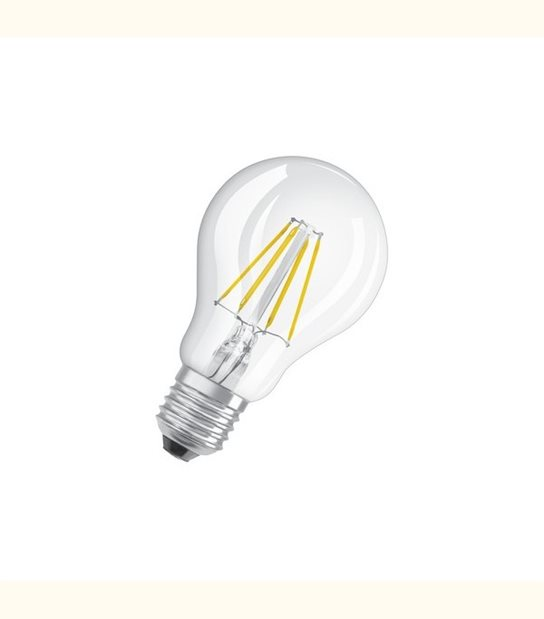 Ampoule led Standard E27 4 watt (eq. 40 watt) Retrofit OSRAM - Couleur - Blanc chaud 2700°K, Finition - Claire - OLD-LEDFLASH - siageo-led.com