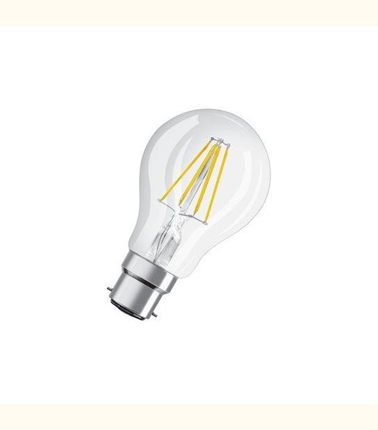 Ampoule led Standard B22 4 watt (eq. 40 watt) Retrofit OSRAM - Couleur - Blanc chaud 2700°K, Finition - Claire - OLD-LEDFLASH - siageo-led.com