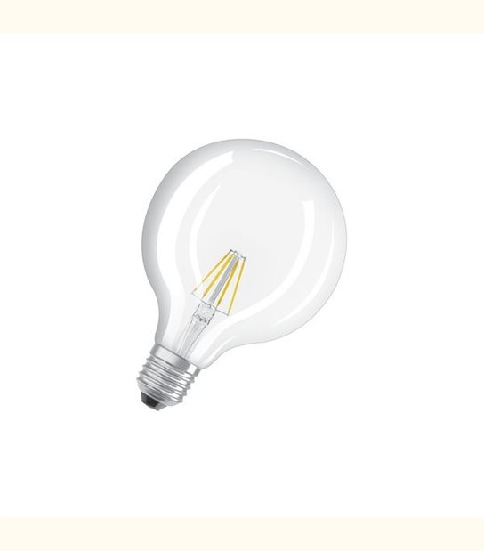 Ampoule led Globe E27 6 watt (eq. 60 watt) Retrofit OSRAM - Couleur - Blanc chaud 2700°K, Finition - Claire - OLD-LEDFLASH - siageo-led.com