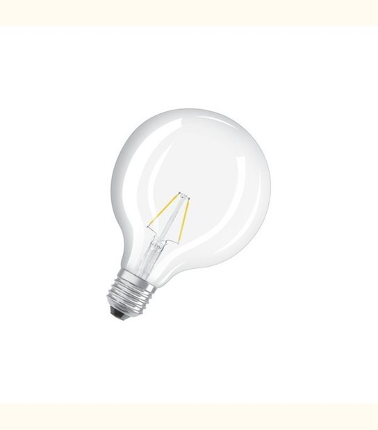 Ampoule led Globe E27 4 watt (eq. 40 watt) Retrofit OSRAM - Couleur - Blanc chaud 2700°K, Finition - Claire - OLD-LEDFLASH - siageo-led.com