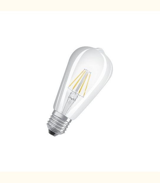Ampoule led ST64 E27 6 watt (eq. 60 watt) Retrofit OSRAM - Couleur - Blanc chaud 2700°K, Finition - Claire - OLD-LEDFLASH - siageo-led.com
