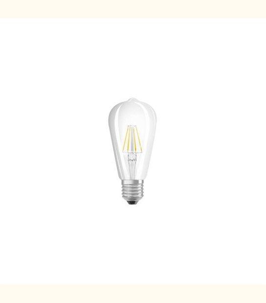 Ampoule led ST64 E27 4 watt (eq. 40 watt) Retrofit OSRAM - Couleur - Blanc chaud 2700°K, Finition - Claire - OLD-LEDFLASH - siageo-led.com
