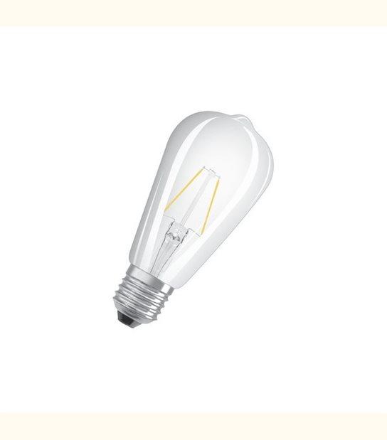 Ampoule led ST64 E27 2 watt (eq. 25 watt) Retrofit OSRAM - Couleur - Blanc chaud 2700°K, Finition - Claire - OLD-LEDFLASH - siageo-led.com