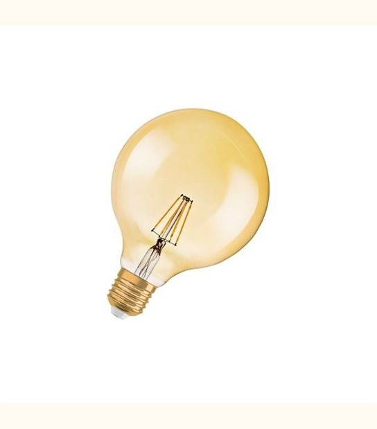Ampoule led Globe E27 4 watt (eq. 35 watt) Retrofit OSRAM - Couleur - Blanc chaud 2400°K, Finition - Claire - OLD-LEDFLASH - siageo-led.com