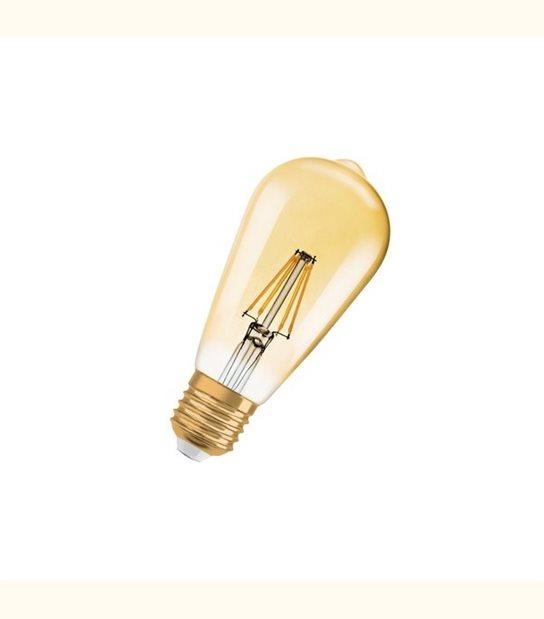 Ampoule led ST64 E27 4 watt (eq. 35 watt) Retrofit OSRAM - Couleur - Blanc chaud 2400°K, Finition - Ambrée - OLD-LEDFLASH - siageo-led.com