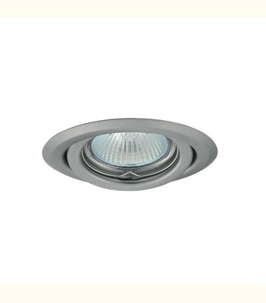 Support spot rond orientable 99 mm (5 couleurs au choix) - Finition - Chromé mat - OLD-LEDFLASH - siageo-led.com