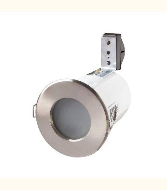 Support de spot étanche IP65 - RT2012 - anti-feu - Finition - Acier brossé - OLD-LEDFLASH - siageo-led.com