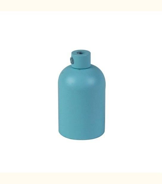 Douille aluminium E27 pour suspension - DIY - Couleur - Bleu Mat - OLD-LEDFLASH - siageo-led.com