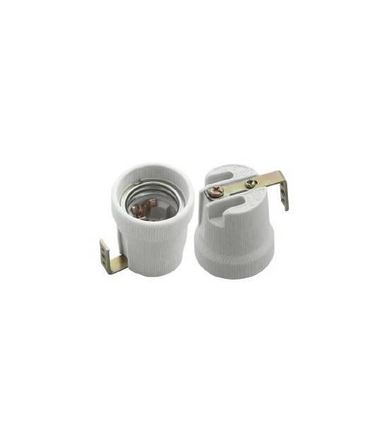 Douille E27 Céramique (avec équerre) pour lampes et ampoules - DOUILLE & ADAPTATEUR - siageo-led.com