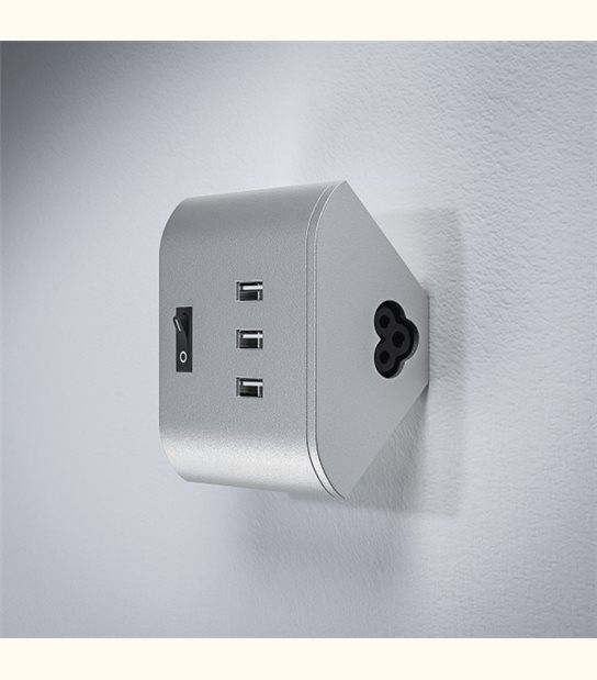 Linéaire LED Corner clé USB (3 x 5V 1A) - OLD-LEDFLASH - siageo-led.com