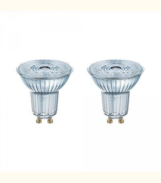 Lot de 2 Spots LED GU10 PAR16 36° 2,6 watt (eq. 35 watt) blanc chaud - OLD-LEDFLASH - siageo-led.com