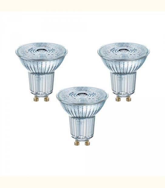 Lot de 3 Spots LED GU10 PAR16 36° 4,3 watt (eq. 50 watt) blanc chaud - OLD-LEDFLASH - siageo-led.com