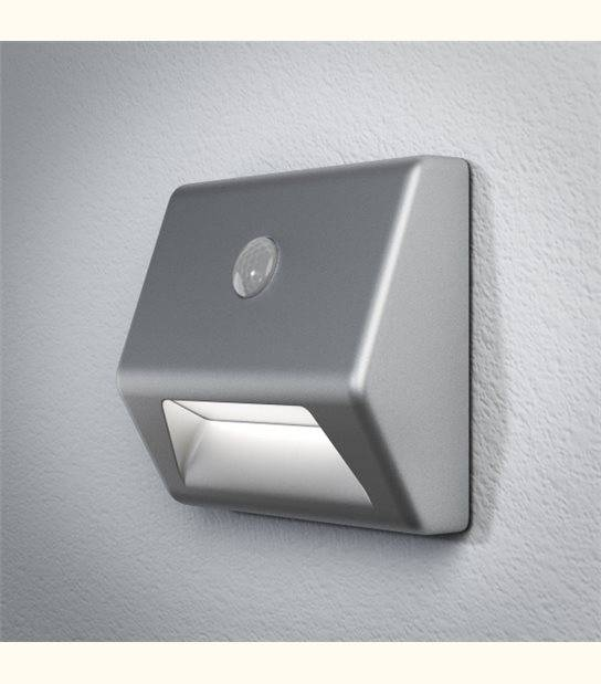 Luminaire à Piles NIGHTLUX marche - IP54 - Finition - Argent - OLD-LEDFLASH - siageo-led.com