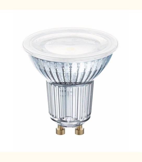 Spot LED GU10 PAR16 120° verre variable 7,2 watt (eq. 80 watt) - Couleur - Blanc neutre 4000°K - OLD-LEDFLASH - siageo-led.com