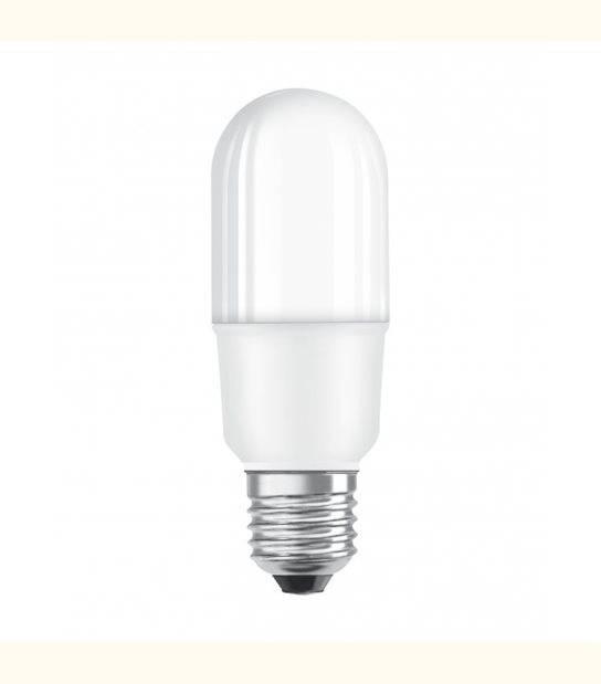 Stick LED E27 dépoli avec radiateur 7 watt (eq. 53 watt) - Couleur - Blanc chaud 3000°K - OLD-LEDFLASH - siageo-led.com