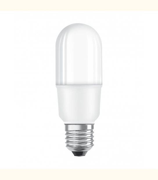 Stick LED E27 dépoli avec radiateur 7 watt (eq. 53 watt) - Couleur - Blanc neutre 4000°K - OLD-LEDFLASH - siageo-led.com