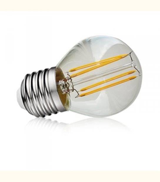 Ampoule Ampoule LED Filamentament G45 E27 4W - Couleur - Blanc neutre 4000°K - OLD-LEDFLASH - siageo-led.com