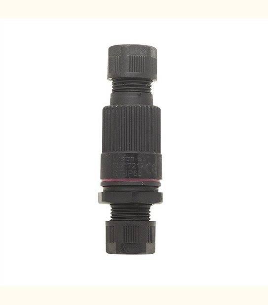 Connecteur Boitier Traversant IP68 450 V 16A Noir 3 Fils - OLD-LEDFLASH - siageo-led.com