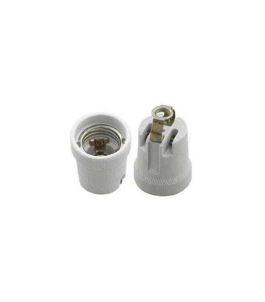Douille E27 céramique - Forme - A visser - DOUILLE & ADAPTATEUR - siageo-led.com
