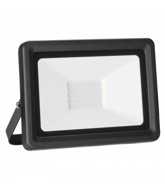 Projecteur LED SMD Ultra plat 220V 30W IP65 Blanc neutre 4000°K - ARCOTEC - PROJECTEUR JARDIN - siageo-led.com