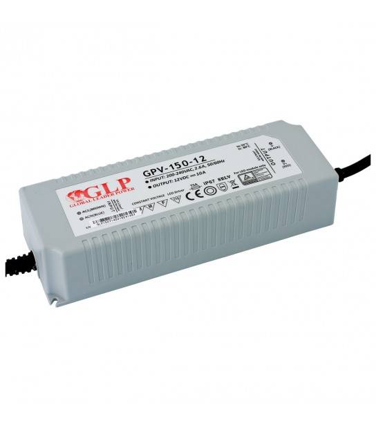 Transformateur spécial Led 12V de 150W GPV-150-12 GLP - GLP-GPV-150-12 - TRANSFORMATEUR SPECIAL LED - siageo-led.com