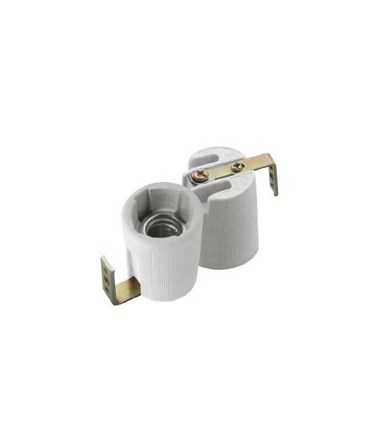 Douille E14 Céramique (avec équerre) pour lampes et ampoules - DOUILLE & ADAPTATEUR - siageo-led.com