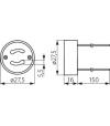 Douille GU10 en céramique de 12v à 240v pour lampes et ampoules - 402 - DOUILLE & ADAPTATEUR - siageo-led.com
